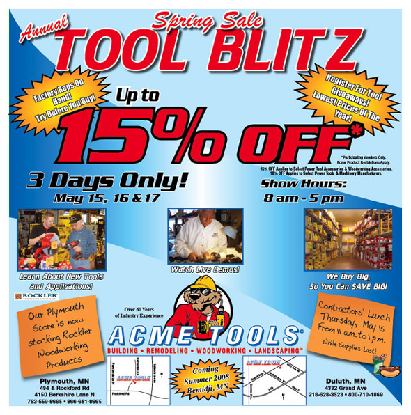 Acme Tools Sale Flier